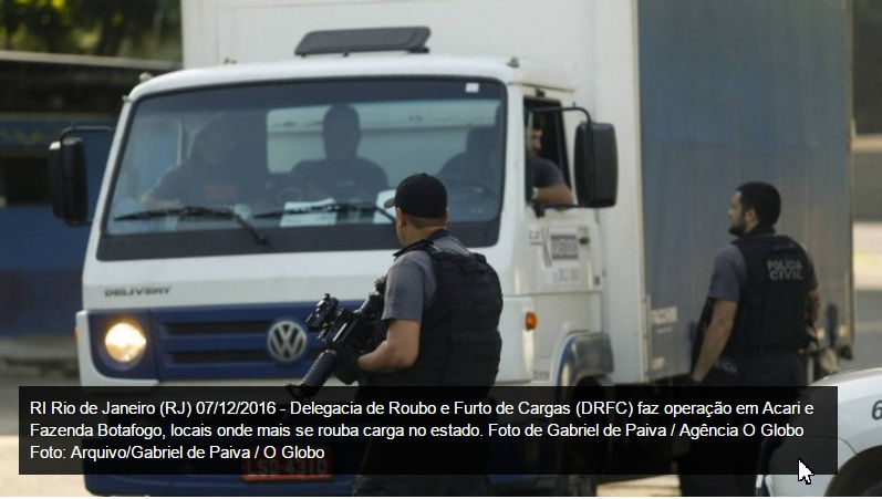 Roubo de cargas causa prejuízo de R$ 6,1 bilhões no Brasil