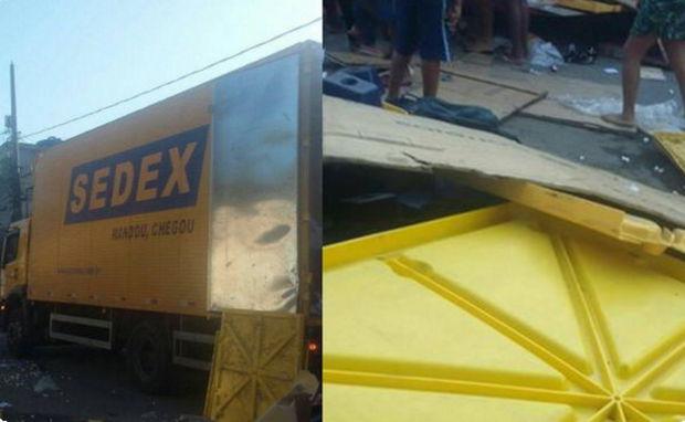 Carga dos correios roubada e levada para favela em Duque de Caxias – RJ