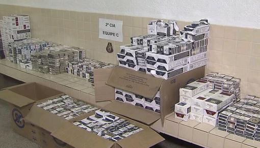 Quadrilha é presa após roubar carga de cigarros em São Vicente