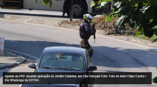 Agentes da PRF são baleados por bandidos em operação em São Gonçalo – RJ