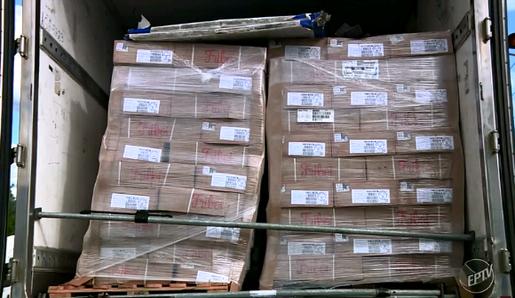 Polícia Militar de Campinas recupera carga de 28 toneladas de carne roubada
