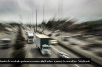 Para driblar os roubos na Avenida Brasil, empresas usam carros de passeio no transporte de carga