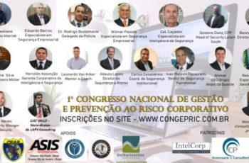 Participe do maior congresso On Line e GRATUITO  de Gestão e Prevenção ao Risco Corporativo.