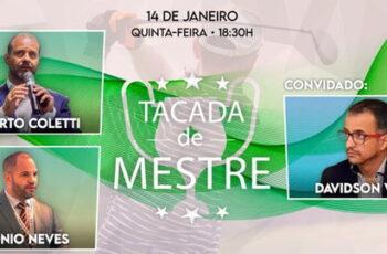 Tacada de Mestre com Roberto Coletti e Antônio Neves | Convidado: Davidson Veiga